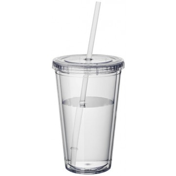 Cyclone 450 ml insulated tumbler with straw10023400