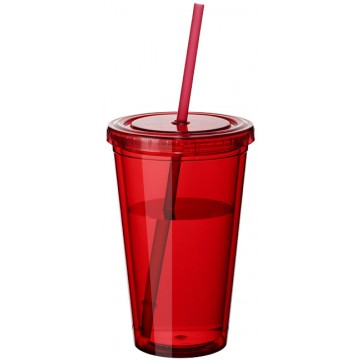Cyclone 450 ml insulated tumbler with straw10023401
