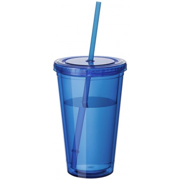 Cyclone 450 ml insulated tumbler with straw10023402