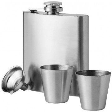 Texas 175 ml hip flask with two shot tumblers19544305
