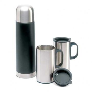 Insulation flask with 2 mugsKC2694-03