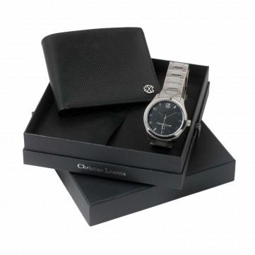 Set Rhombe Black (wallet & watch)LPMM418