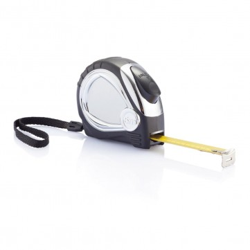 Chrome plated auto stop tape measure, blackP113.401