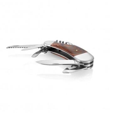 Design pocket knife with wooden gripP135.339