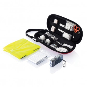 47 pcs first aid car kit, red/black-P239.304