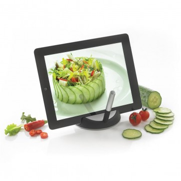 Chef tablet stand with touchpen, black/silverP261.171