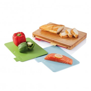 Cutting board with 4pcs hygienic boards, brownP261.219