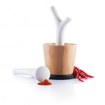 Pesta mortar and pestle, brownP261.309