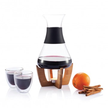 Glu mulled wine set with glasses, blackP263.211