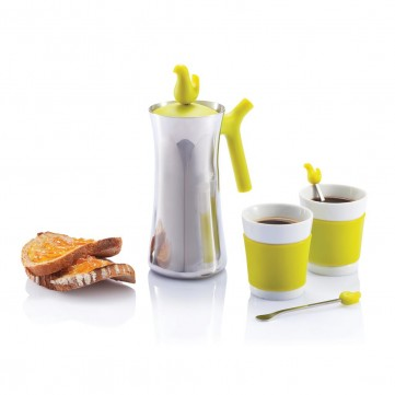 Early bird coffee press with cupsP263.107
