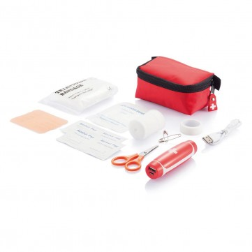 First aid kit with emergency powerbankP265.904
