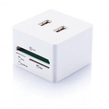 Cube USB hub & card readerP300.443