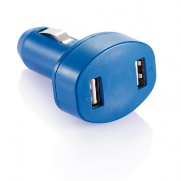 Double USB car charger, blueP302.065