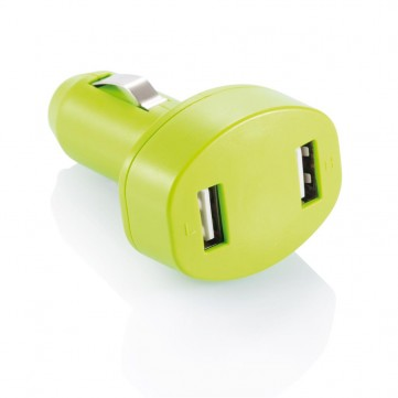 Double USB car charger, greenP302.067