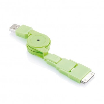 Universal charging cable greenP302.037