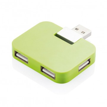 Travel USB hub, greenP308.757
