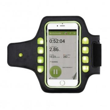 Running holder with LED light, black/GreenP320.301