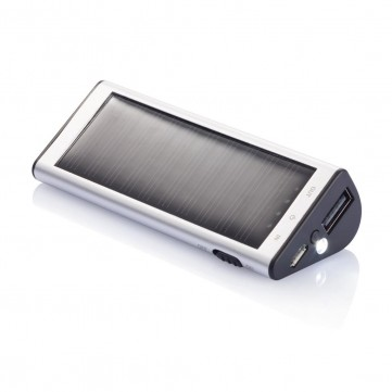 2.200 mAh solar powerbank, silverP323.150