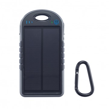 Swiss Peak water resistant solar charger, blackP323.941