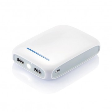 10.000 mAh powerbank, whiteP324.223