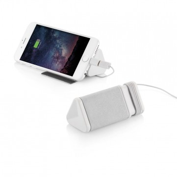 Dobble cable & 3.000mAh powerbank, greyP324.303
