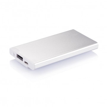 2.500 mAh powerbank with clip, silverP324.432