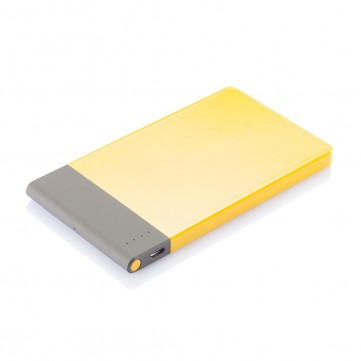 4.600 mAh thin powerbank, yellowP324.756
