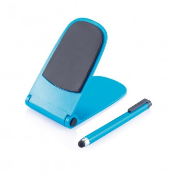 Push stand with touch pen blueP325.005