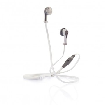 Oova earbuds with mic, grey/whiteP326.403