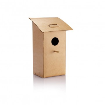 Foldable bird house, brownP416.759