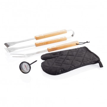 4 pcs BBQ set, blackP422.751