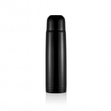 Stainless steel flask, blackP430.111