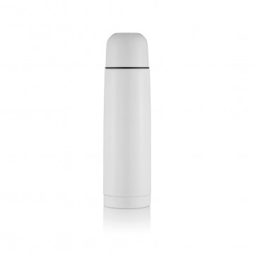 Stainless steel flask, whiteP430.113
