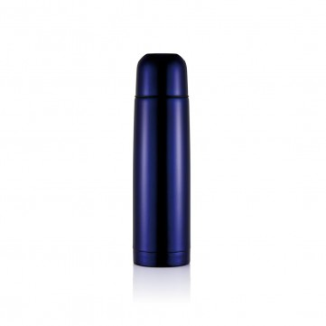 Stainless steel flask, purple blueP430.115