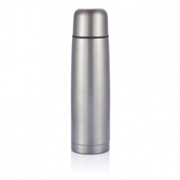 Stainless steel flask, greyP430.120