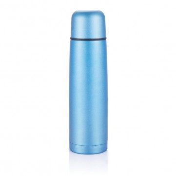 Stainless steel flask, blueP430.125