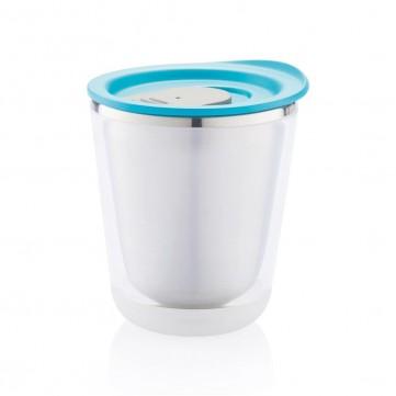 Dia mug, turquoise/greyP432.025