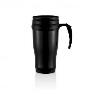 Stainless steel mug, blackP432.131