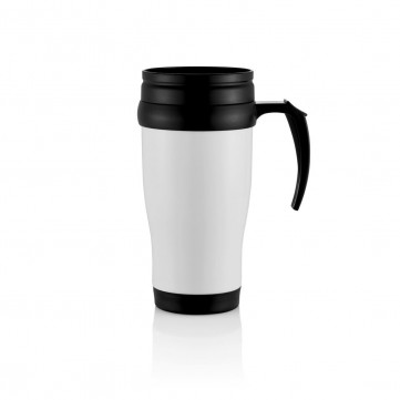 Stainless steel mug, whiteP432.133