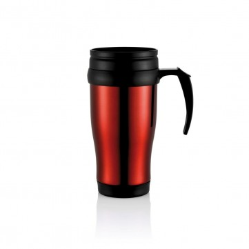 Stainless steel mug, redP432.134