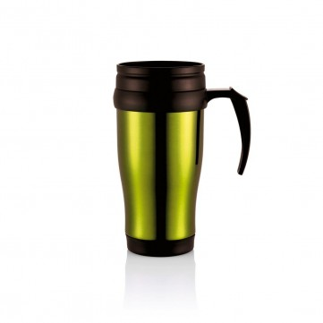 Stainless steel mug, greenP432.139