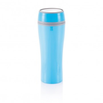 Double wall push mug, blueP432.225