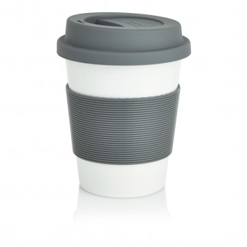 PLA coffee cup, white/greyP432.880