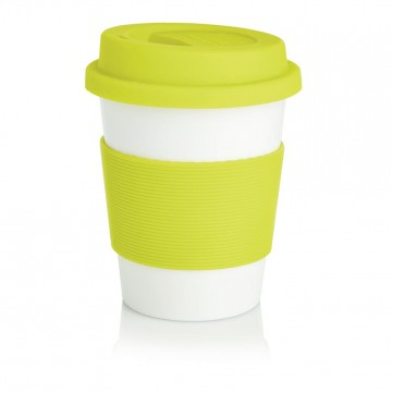 PLA coffee cup, white/GreenP432.886
