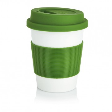 PLA coffee cup, white/GreenP432.887