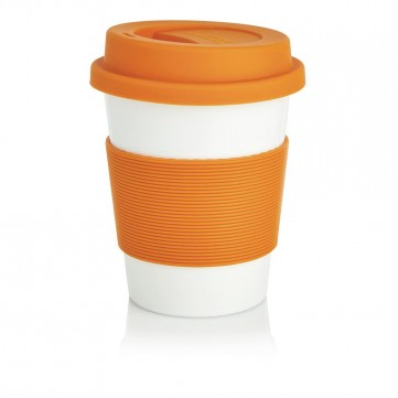 PLA coffee cup, white/OrangeP432.888