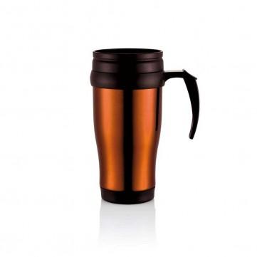 Stainless steel mug, orangeP432.138