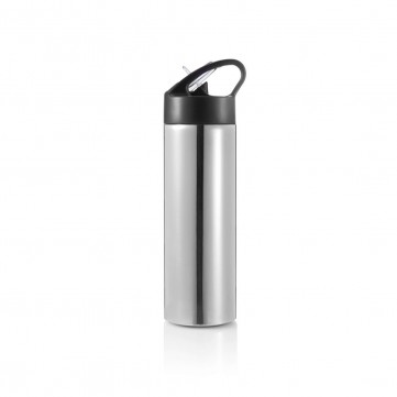 Sport bottle with straw, silverP433.160