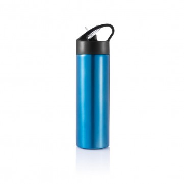 Sport bottle with straw, blueP433.165