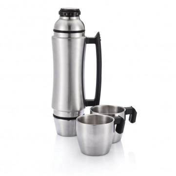 Wave Grip flask with handle, silverP433.522
